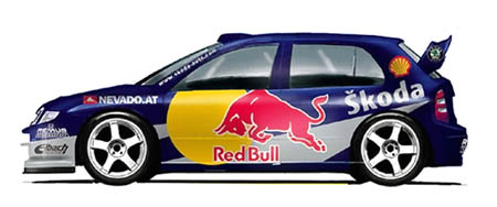 RedBull Skoda Fabia WRC